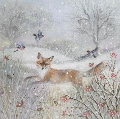 Suffolk Original Paintings For Sale Friends Illustration, Illustration Art, Woodland Art, Motifs Animal, Original Paintings For Sale, Fox Art, Winter Art, Wildlife Art, Christmas Art