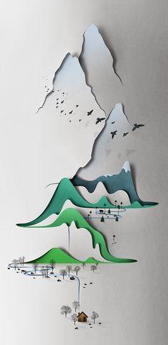 Illustration en relief d'Eiko Ojala (via the working girl blog)
