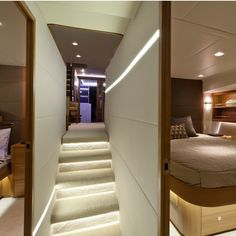 James Russ worked on this elite super yacht to create lighting with crisp finishes. Ekara is a stunning example of how James Russ can adapt to different environments to create exceptionally clean, functional lighting.