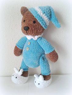Teddies - Häkeln Teddy Bär Pyjama - ein Designerstück von Crochetland bei DaWanda