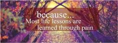 Lessons can hurt, Facebook cover photo