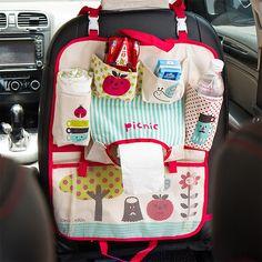 Cartoon Baby Diaper Bags for Mom Baby Travel Nappy Handbags Travel Bag Organizer Baby Car Seat Storage Bag Seat Hanging Bag #Affiliate
