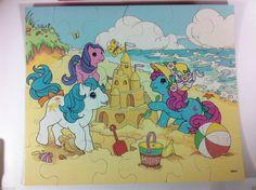 RARE My Little Pony G1 1987 24 Piece Puzzle Summer Sand Castle on The Beach | eBay