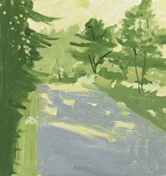 (alongtimealone:alex katz , road 2, 2005)