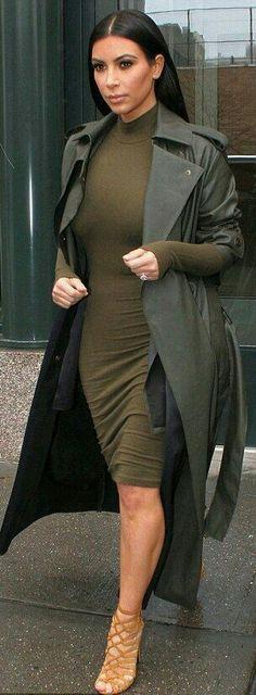 Kim k Coat