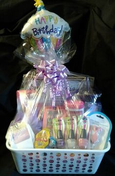Teen First Name Art Birthday Gift Basket