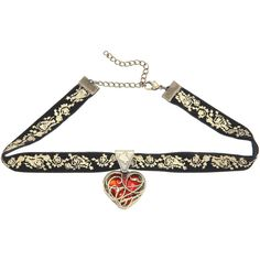 Disney Alice Through The Looking Glass Heart Choker Hot Topic ($11) ❤ liked on Polyvore featuring accessories, hair accessories and alice in wonderland