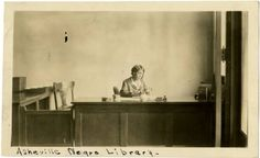 Librarian at the Asheville Negro Library.