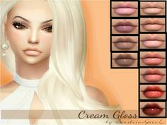 The Sims Resource: Cream Gloss by Baarbiie-GiirL • Sims 4 Downloads