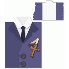 Silhouette Design Store - View Design #75084: first communion boy's suit card