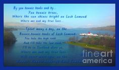 The Bonnie Banks Of Loch Lomond by Joan-Violet Stretch  #lake #poem