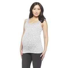 Maternity Fashion Tank Gray/White-Liz Lange® for Target® .... tanks are the best thing when I'm pregnant, then I can keep wearing some of my shirts over top