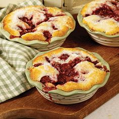 Our easy cherry cobbler recipe is a fan favorite for a reason: It's a simple solution for anyone with a sweet tooth. This versatile recipe works well with fresh cherries or canned cherries. Summer never tasted so good. Cherry Recipes, Fruit Recipes, Dessert Recipes, Cooking Recipes, Yummy Recipes, Just Desserts, Delicious Desserts, Yummy Food, Pie Dessert