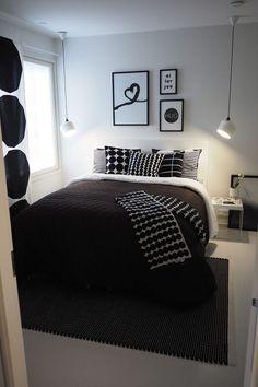 Elegant and Modern Master Bedroom Design Ideas 2018 Minimal Bedroom Design, Monochrome Bedroom, Master Bedroom Design, Minimalist Bedroom, Small Room Bedroom, Home Decor Bedroom, Modern Bedroom, White Bedroom Decor, Interior Design Living Room