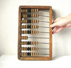 Large Wood Abacus Russian USSR Soviet Industrial Old Time Computer Rustic Wooden Calculator Steampunk Office Decor by MerilinsRetro on Etsy