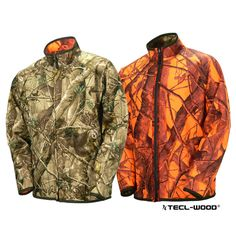 #New #TECLWOODCamo TECL-WOOD Functional Reversible Soft Shell Hunting Camo Jacket