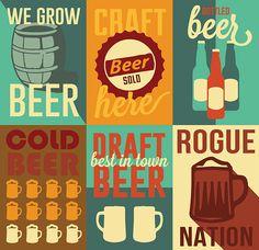 Beer Flyers by Anna Rose Gornbein, via Behance