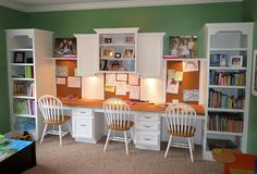 Homework station...the playroom in the future.