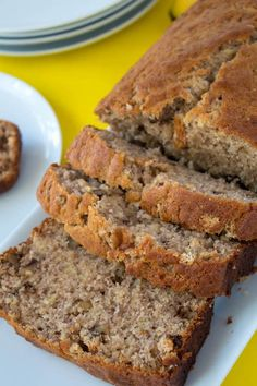 This is hands down the most AMAZING Banana Bread I've ever tasted! It's moist, fluffy and the addition of chopped walnuts give a nice crunch in each bite!
