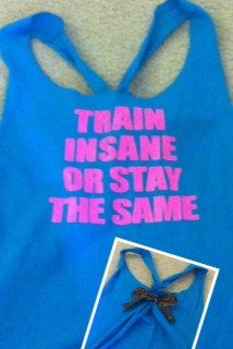 Train Insane or Stay the Same Aqua Workout by RufflesWithLove, $22.00