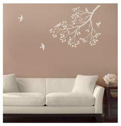 Wall Stencil Spring Songbirds - Reusable Stencil for Walls - DIY decor. $39.95, via Etsy.