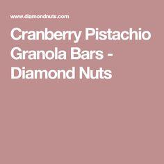 Cranberry Pistachio Granola Bars - Diamond Nuts