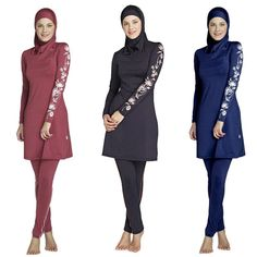 6d4aef7f078 Women Plus Size Printed Floral Muslim Swimwear Hijab Muslimah Islamic  Swimsuit Swim Surf Wear Sport Burkinis