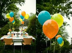 NEED TO BUY- SEATTLE PARTY SUPPLY 6 sets of 3 w/helium & string Light Orange napkins