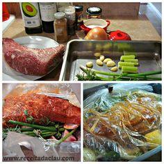 Carne macia, suculenta e fácil de fazer! Rendimento:15 porções Tempo de preparo: 3 horas Ingredientes: 1 peça de maminha 1 colher (sopa) de óleo sal a gosto pimenta do reino a gosto páprica à gost…