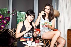 "Two sisters from south London have told how they plan to revolutionize home cooking by going back to pre-wartime foods such as offal, bone broth and full-fat butter in place of modern ""healthy"" alternatives. Hemsley And Hemsley, Melissa Hemsley, Socca Pizza, Quinoa Tabbouleh, Quinoa Salad, Slow Roast Lamb, Red Pesto, Cranberry Jam, Recipes"