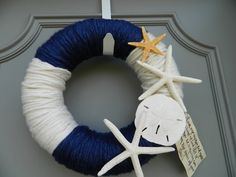 Sea Shore Yarn Wreath- totally making this!!!