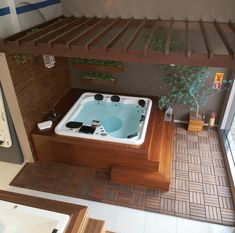 Hot Tub Backyard, Small Backyard Pools, Backyard For Kids, Backyard Patio, Jacuzzi Outdoor, Outdoor Spa, Outdoor Rooms, Deco Spa, Barn House Kits