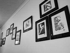 Linocut Nudes: Gallery with Martha, Edith