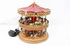 Mr. Christmas Double Decker carousel new holiday electric No box Music Moves