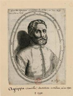 Camillo Agrippa (1535-1595), ingénieur, mathématicien italien Anonyme Versailles, châteaux de Versailles et de Trianon