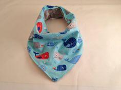 Blue Whale Bib/Baby Bandana/Baby Bib/Drool Bib/Teething Bib/Baby Boy/Ocean by OccasionalGoods on Etsy