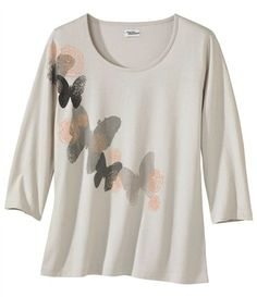 Tee-Shirt Imprimé Papillons #atlasformen #avis #discount #livraison #commande #printemps #spring #atlasforwomen