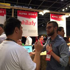 Our CEO is warming up, don't hesitate to stop by #R134-1 // #delta #startup #socialgood #philanthropy #riseconf