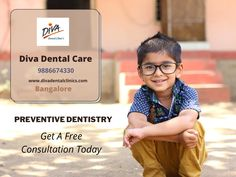 Obtain optimum oral health with preventive dentistry services, such as dental checkups & cleanings provided for your family of all ages at Diva Dental Care, Bangalore Best Dentist, Dentist In, Preventive Dentistry, Oral Health, Your Family, Dental Care, Clinic, Diva, Profile