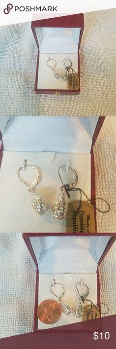 Drop earrings Shiny drop earrings Made in Dominican republic Jewelry Earrings