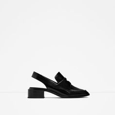 Image 3 of LEATHER SLINGBACK LOAFERS from Zara