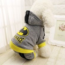 Gray roupa pet dog clothes Winter Pet Dog costumes Thick Jacket Four-legged Hooded Sweater Clothing For Small Puppy Dogs SG14(China (Mainland))