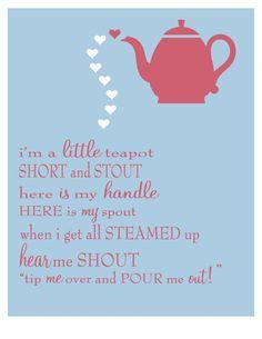 I am a little teapot song