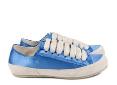 Parson, 'phat' lace satin sneaker in blue. | Pedro Garcia Shoes Spring-Summer 2015 | Made in Spain