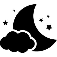 Black and white moon and stars clipart image Machine Silhouette Portrait, Silhouette Design, Baby Flash Cards, Star Clipart, Moon Vector, Star Svg, Icon Set, Graphisches Design, Black And White Baby