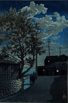 Hasui Kawase (although you cannot see the full moon, you can see the clouds and shadows)