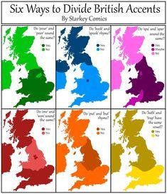 Ways to Divide British Accents - Sta. -Six Ways to Divide British Accents - Sta. British Memes, British History, British Humour, British Slang, Asian History, Tudor History, Growing Up British, Funny Memes, Hilarious