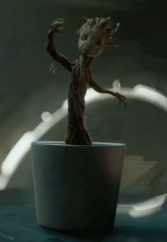 """But how do they all stack up against dancing baby Groot?   """"Guardians Of The Galaxy"""" Outtake Reveals A Surprising Dance Off"""