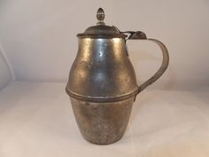 Antique French Pitcher with Hinged Lid 1800's Lovely by Duckwells