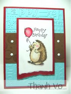 A Hedgie Bday Stampin Up Hedgehog happiness